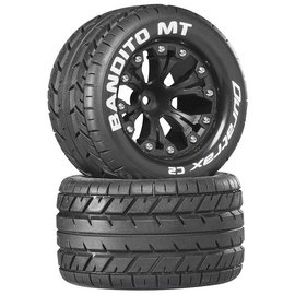 "Duratrax Bandito MT 2.8"" 2WD Mounted Rear C2 Black (2)"