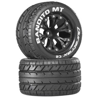 "Duratrax Bandito MT 2.8"" 2WD Mounted Rear C2 Black 12mm Hex (2)"