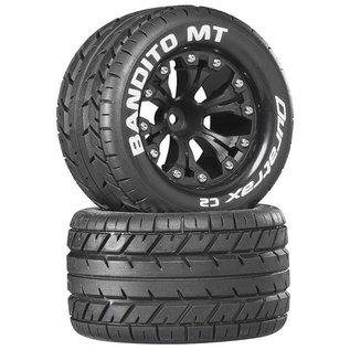 """Duratrax Bandito MT 2.8"""" 2WD Mounted Rear C2 Black (2)"""