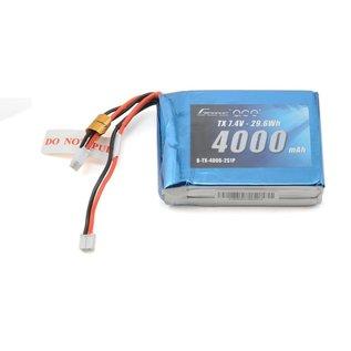 Gens Ace 7.4V 4000mah 2s TX Battery JST