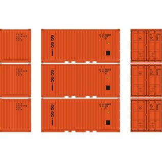 Athearn 20' CORR CONTAINER SSI (3) HO