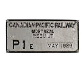 Railway Recollections MONTREAL LOCO WKS BUILDER PLATE