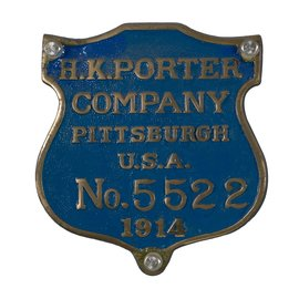 Railway Recollections H.K. PORTER LOCO BUILDER PLATE
