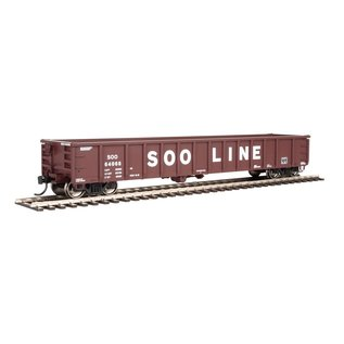 Walthers Mainline 53' Railgon Gondola  Soo Line  oxide, white, lg name