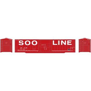 Roundhouse 50' OB PLUG DOOR BOX SOO/RED HO