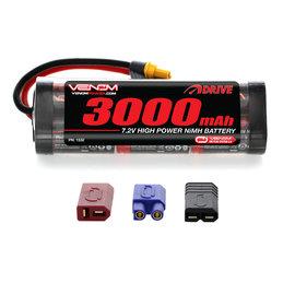 Venom Power 7.2V 3000mah NIMH Flat Uni-plug