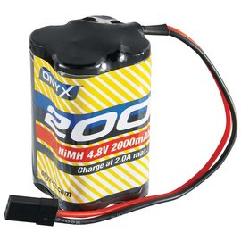 Onyx RC 4.8V 2000mah NIMH AA Square RX battery