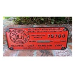 Railway Recollections CDN LOCO CO. BUILDER PLATE RED/G