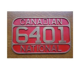 Railway Recollections CNR NUMBER PLATE #6401