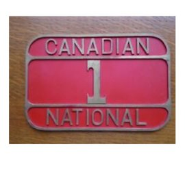 Railway Recollections CNR NAME PLATE #1
