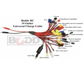 2U Hobby 19 Outlet Universal Charge Cable