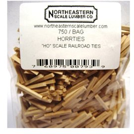Norscot SCALE RAILROAD TIES HO (750)