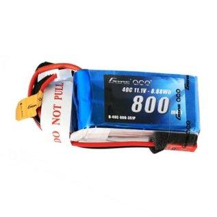 Gens Ace 11.1V 800mah 3S 40C LIPO soft JST