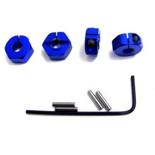 Hot Racing ALUMINUM LOCKING HEX 12mm BLUE