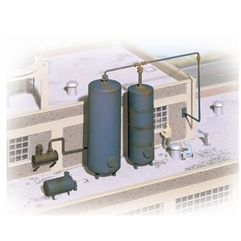 Walthers Cornerstone STORAGE TANK AND DETAILS KIT HO