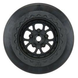Pro-Line Racing 2.2 / 3.0 Pomona Drag Spec Wheels Black Slash Rear (2)