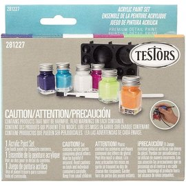 Testors Testors .25oz Acrylic Set 6Pc