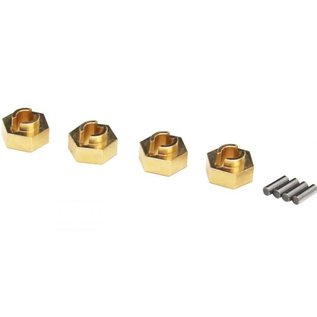 Hot Racing Brass Stock Wheels hub 7mm hex SCX24