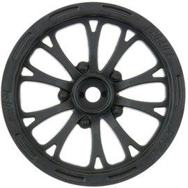 Pro-Line Racing 2.2 Pomona Drag Spec Wheels Black Slash Front (2)
