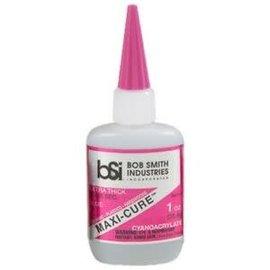 Bob Smith Industries Maxi-Cure Thick Gap Filling CA 1oz Pink