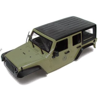 Team Raffee Co. 1/10 5 Door Rubicon Hard Body 313mm Kit Version Green