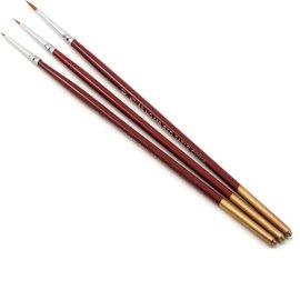 Atlas Brush Company SABLE DETAIL BRUSH SET 10/0, 5/0, 0