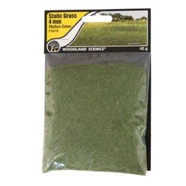 Woodland Scenics Static Grass, Medium Green 4mm