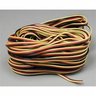 Hitec 3-Color Light Gauge Servo Wire / foot