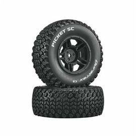 Duratrax MTD Picket SC C2 Tires: Slash 4x4 Blitz Front Rear 12mm Hex (2)