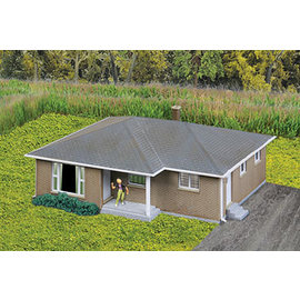Walthers Cornerstone BRICK RANCH HOUSE KIT N