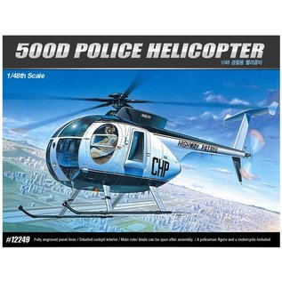 Academy 1/48 HUGHES 500D POLICE HELICOPTER