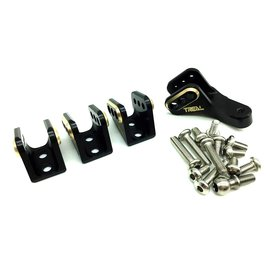 Treal Treal Brass lower link mounts for Gen8 Black