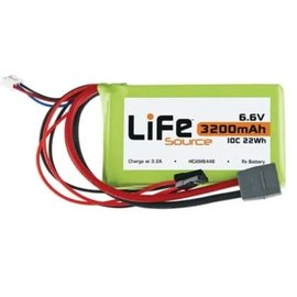 6.6V 3200 LIFE 10C RX Battery Deans and RX  Plugs - Clearance