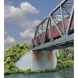 Walthers Cornerstone DBL-TRACK BRIDGE CONCRETE ABUT. KIT 2 HO
