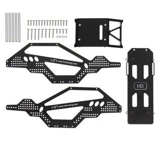 Hot Racing Aluminum Rock Racer Conversion Chassis- SCX24