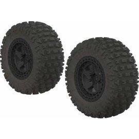 ECX Dboots Fortress SC Tire Set Black -14mm hex (2)