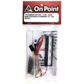ON POINT On Point 1/10 Aluminum Light Bar 4  LEDs Black
