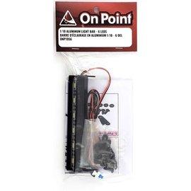 ON POINT On Point 1/10 Aluminum Light Bar 6 LEDs Black