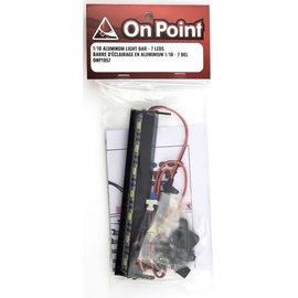 ON POINT On Point 1/10 Aluminum Light Bar 7 LEDs Black