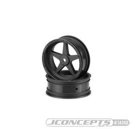 "JConcepts Starfish DR10 Street Eliminator 2.2"" 12mm hex front wheel black"