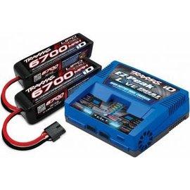 Traxxas Dual 4S 6700mAh Battery/EZ-Peak Live Dual Charger Combo