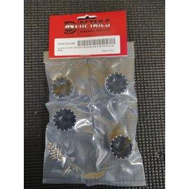 Hobby Details SCX24 1.0 Aluminum Starfish Beadlock Wheels 4 Black