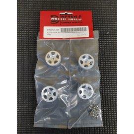 Hobby Details SCX24 CNC Aluminum Starfish Beadlock Wheels (4) Aluminum