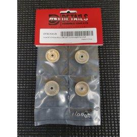 Hobby Details SCX24 6mm Brass Wheel Counterweight 4pcs/set