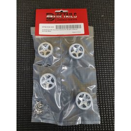 Hobby Details SCX24 1.0 Aluminum Starfish-Pro Beadlock Wheels 4 Aluminum