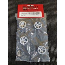 Hobby Details SCX24 CNC Aluminum Starfish-Pro Beadlock Wheels (4) Aluminum