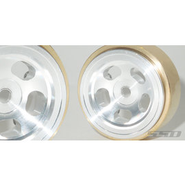 "RC4WD 1.0"" Aluminum / Brass Slot wheels 2/pk"