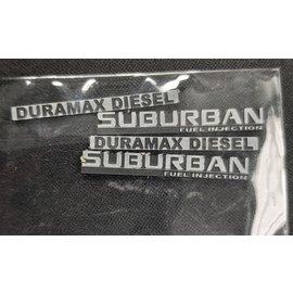 True North RC SCALE CAR BADGE - SUBURBAN DURAMAX DIESEL