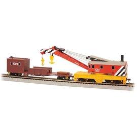 Bachmann Trains HO 250T Steam Crane Boom Tender CN