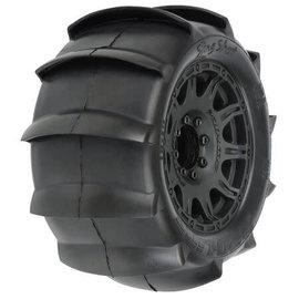 Pro-Line Racing 3.8 Sling Shot Sand Tires Mtd Raid 8x32 17mm MT F/R